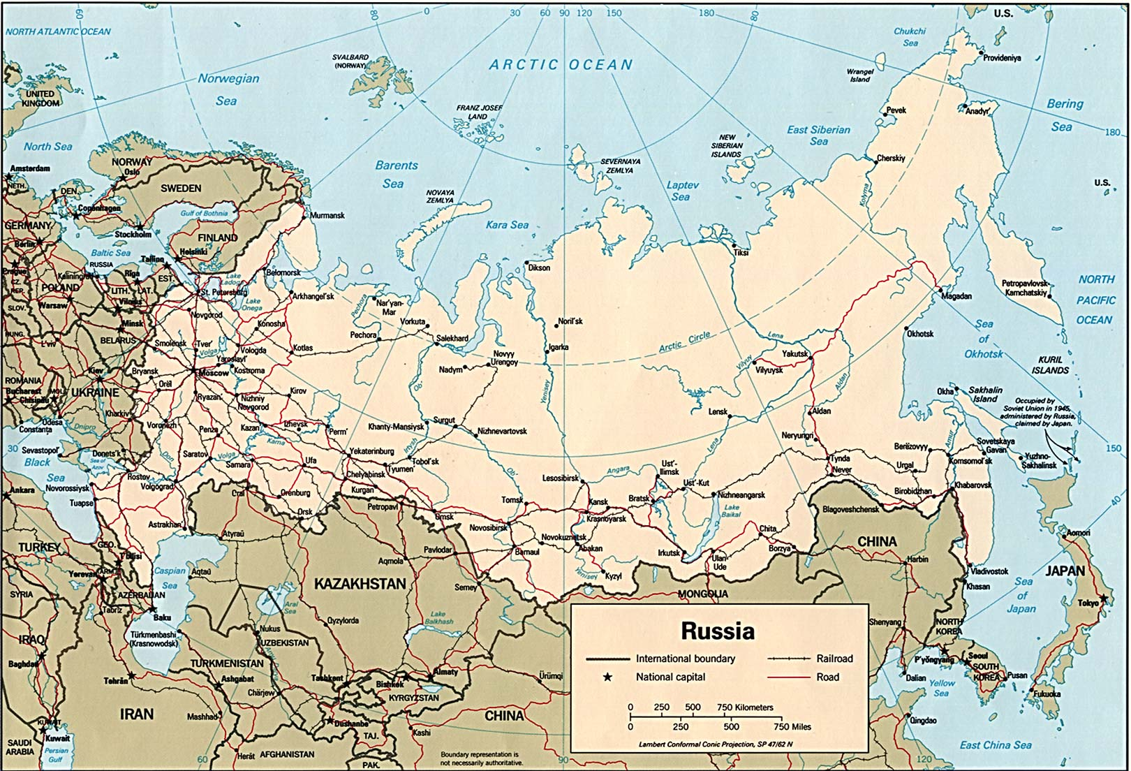 Map of Russia (Political Map) : Worldofmaps.net - online Maps and ...