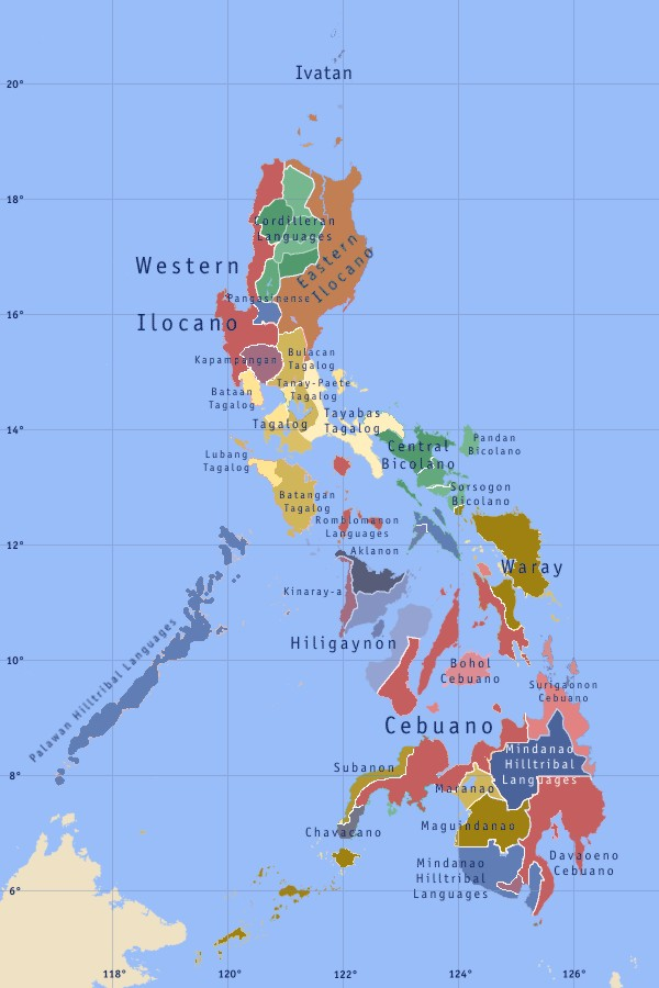 Maps Of The Philippines Map Of Local Language Worldofmaps Net