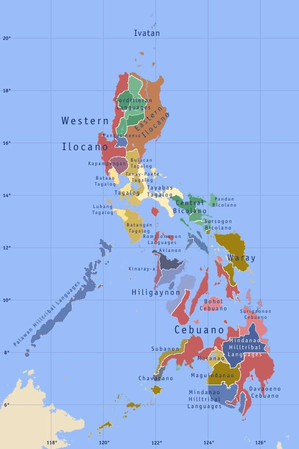 Maps of the Philippines Map of Local Language  Worldofmapsnet