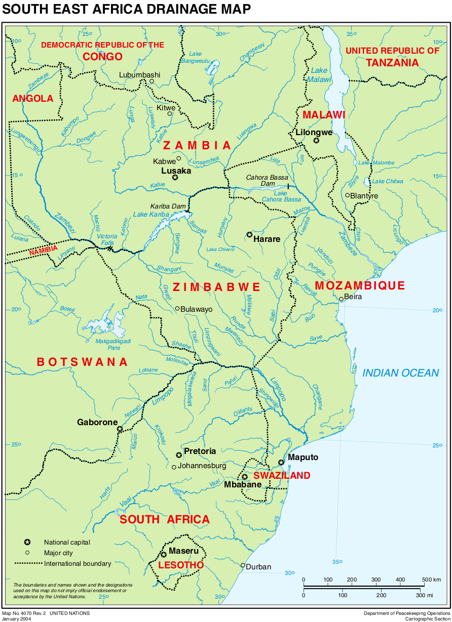 Map of Africa (South East) : Worldofmaps.net - online Maps and ...