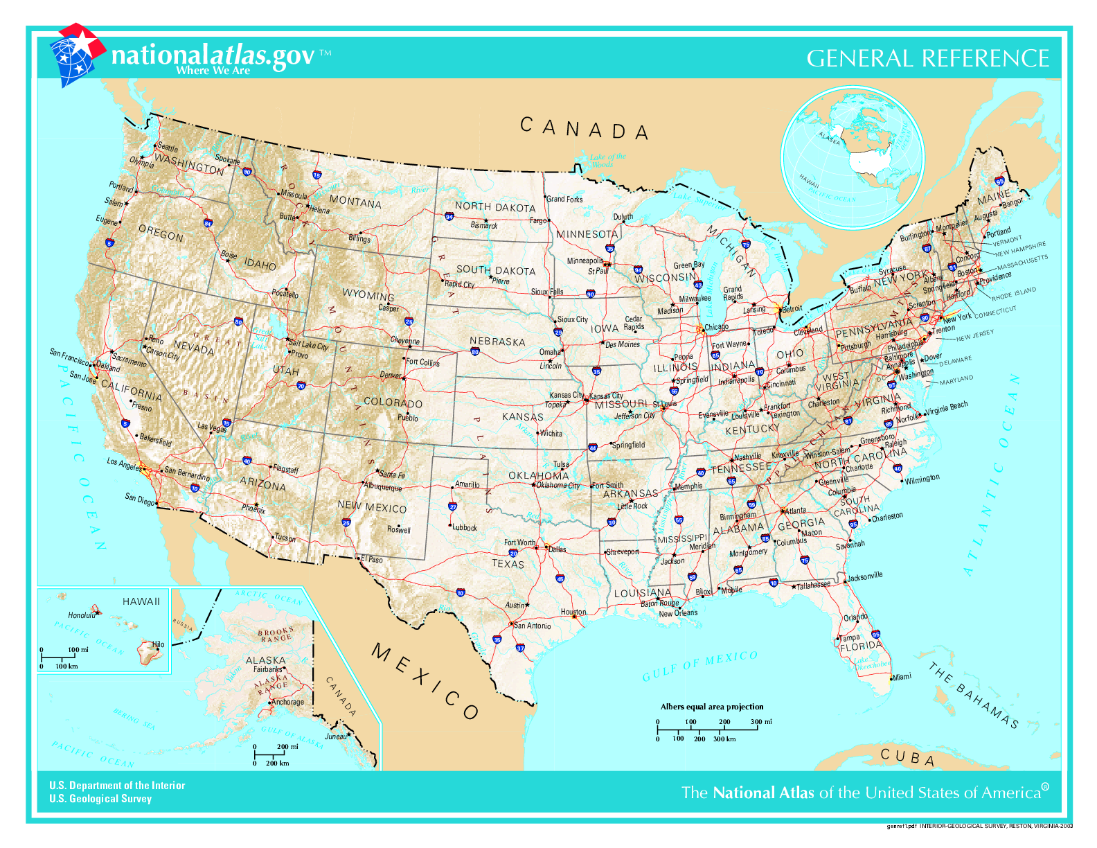 Map of USA (States and Cities) : Worldofmaps.net - online Maps and ...