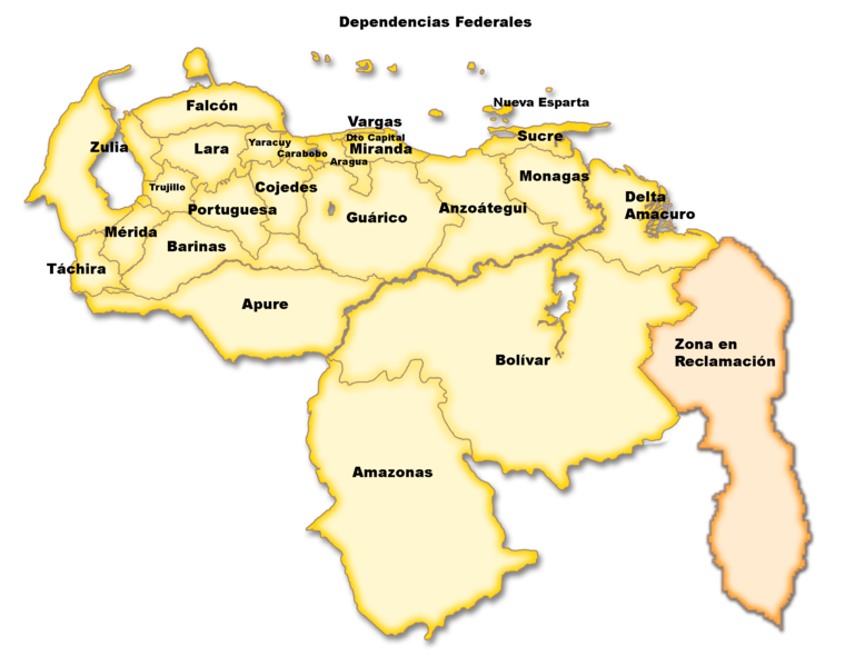 Map of Venezuela (Administrative Divisions) : Worldofmaps ...