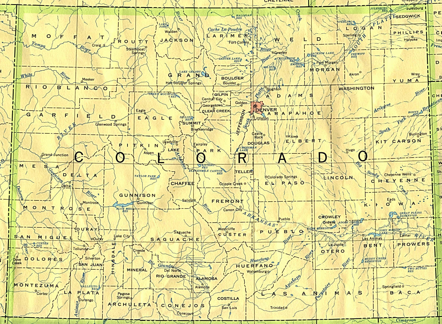 Map of Colorado (Overview Map) : Weltkarte.com - Karten und ...