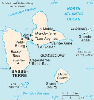 guadeloupe weltkarte Map of Guadeloupe (Overview Map) : Worldofmaps.  online Maps  guadeloupe weltkarte