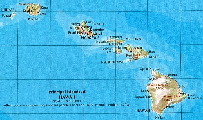 Map Of Hawaii Relief Map Weltkarte Com Karten Und Stadtplane