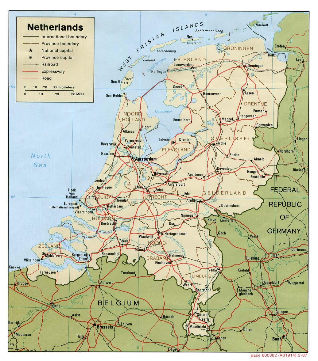 Map of the Netherlands (Political Map) : Worldofmaps.net ...