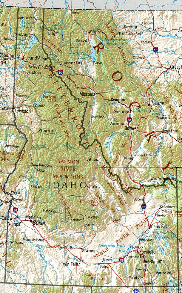 Map of Idaho (Reference Map) : Worldofmaps.net - online Maps and ...