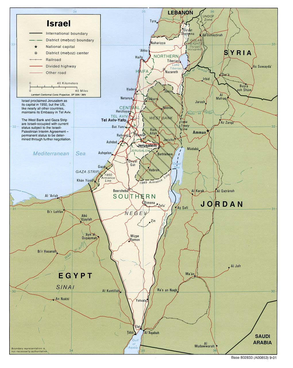 Map of Israel (Political Map) : Weltkarte.com - Karten und ...