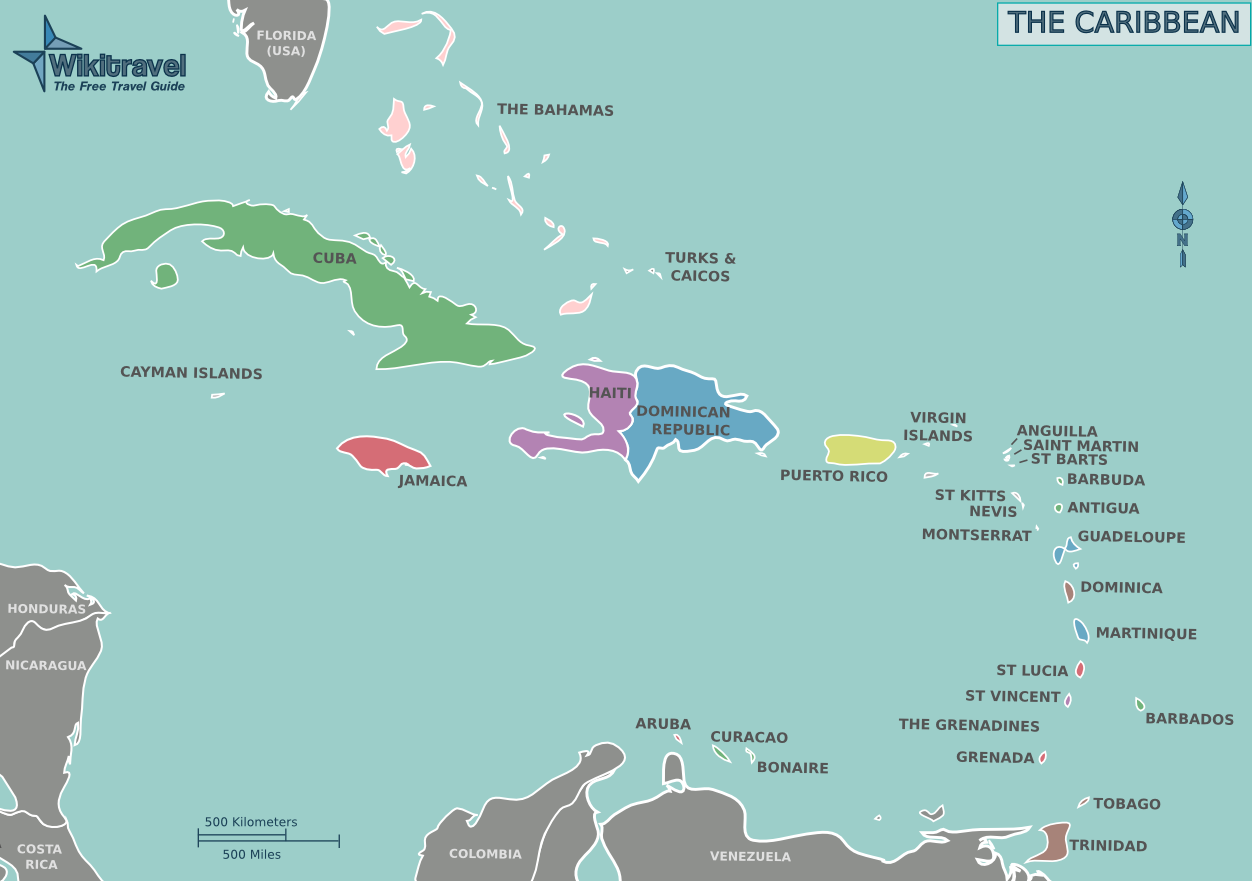 Map of The Caribbean (Overview Map) : Worldofmaps.net ...