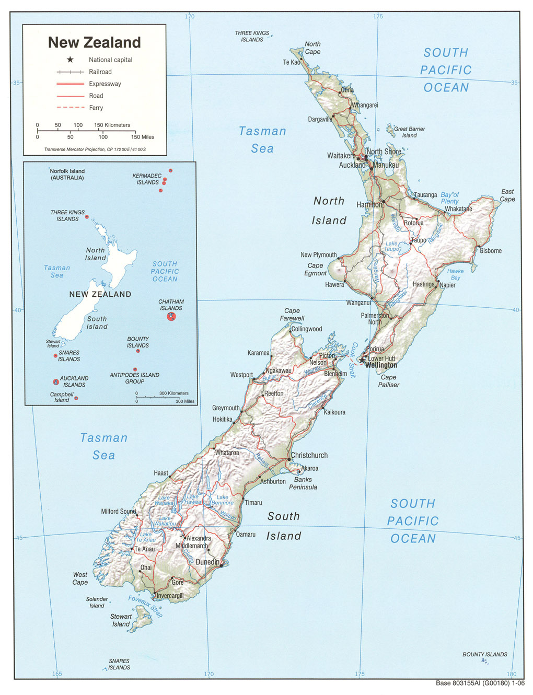 Landkarte Von Neuseeland Wall Mural Pixers We Live To Change