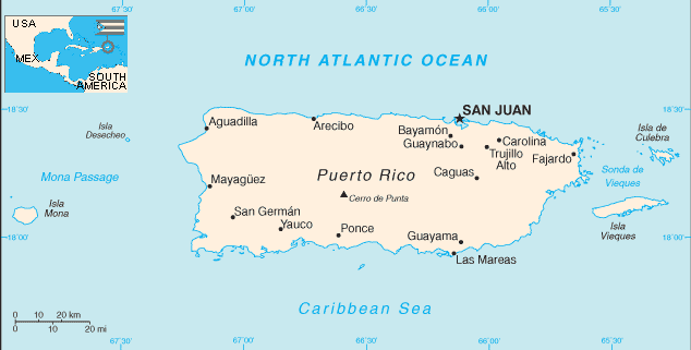 Map of Puerto Rico (Overview Map) : Weltkarte.com - Karten ...