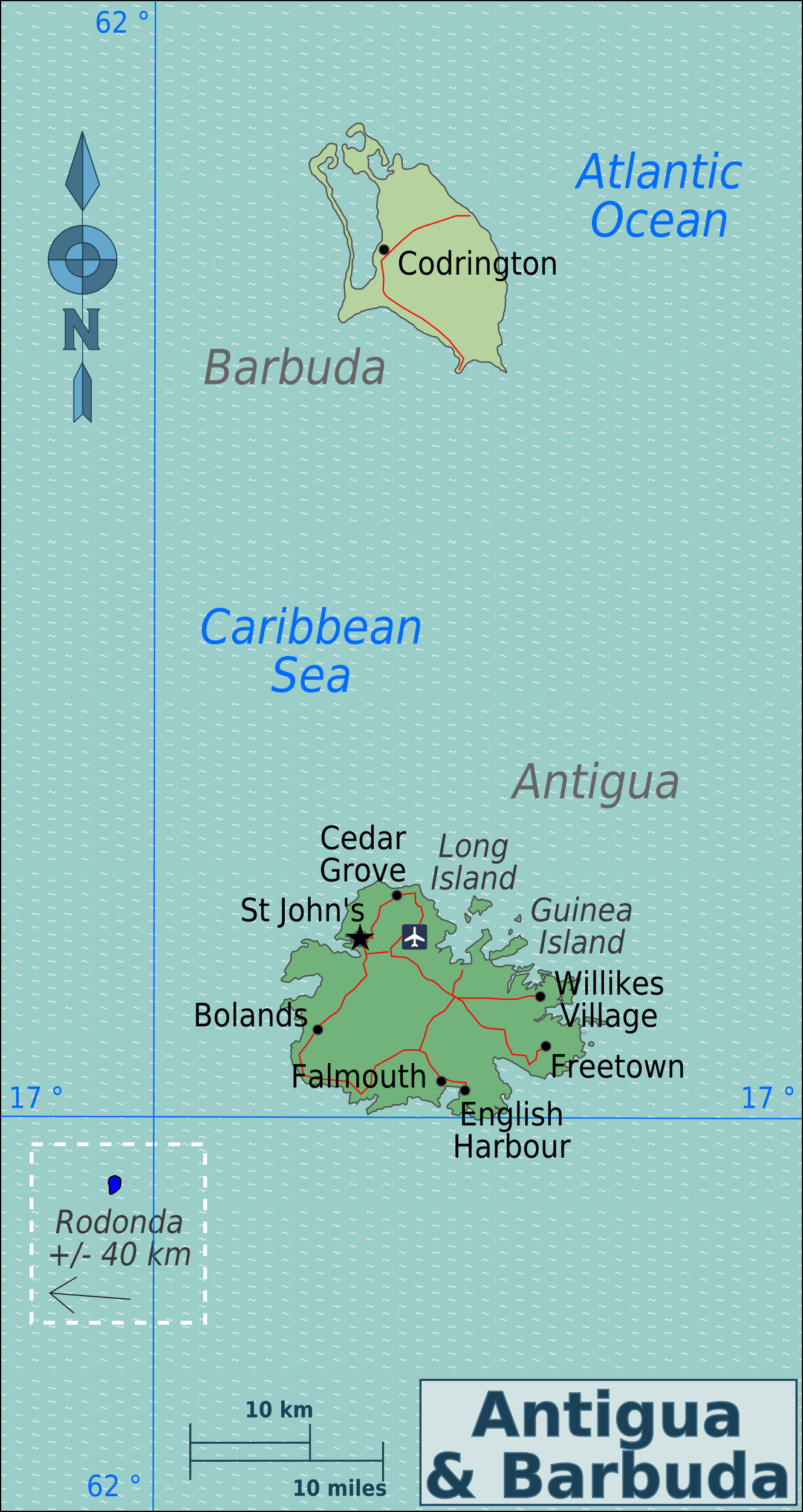 Map Antigua and Barbuda (Overview Map) : Worldofmaps.net ...
