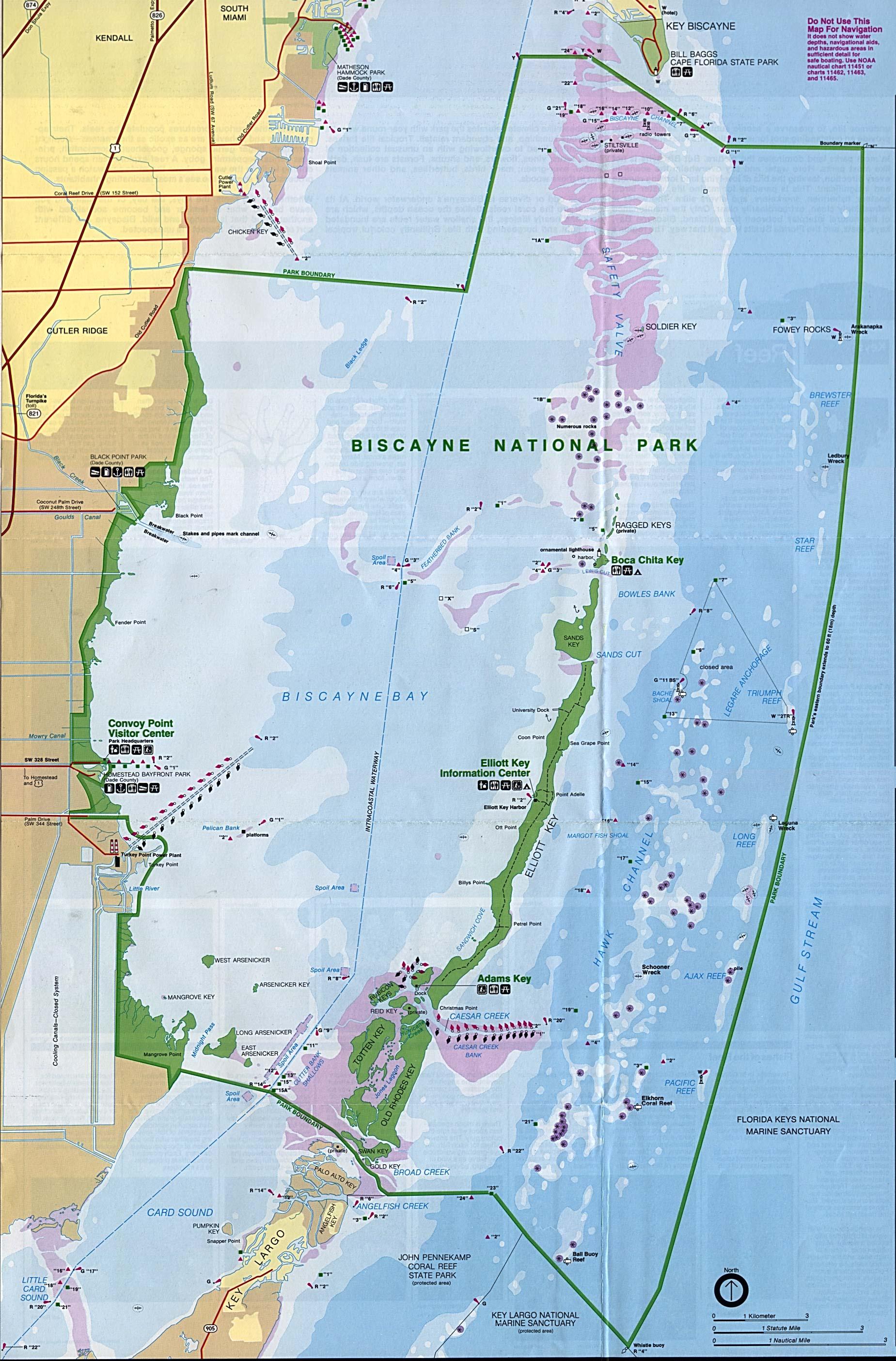 Biscayne National Park Map Map of Biscayne National Park : Worldofmaps.  online Maps and