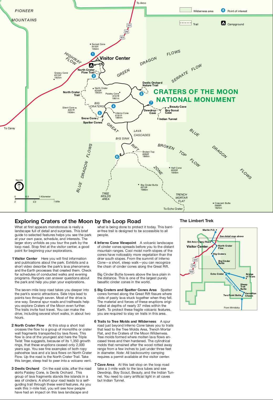 Map of Craters of the Moon National Reserve : Worldofmaps.net ...