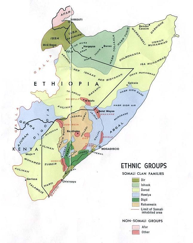 Map fo Somalia (Map Ethnic Groups) : Weltkarte.com - Karten ...