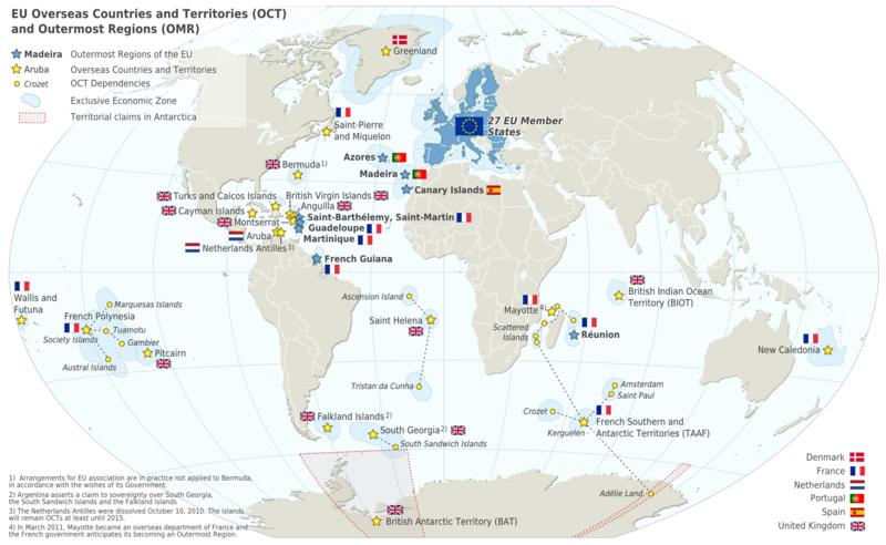 Map European Union (Map EU Oversease Area) : Worldofmaps.net ...