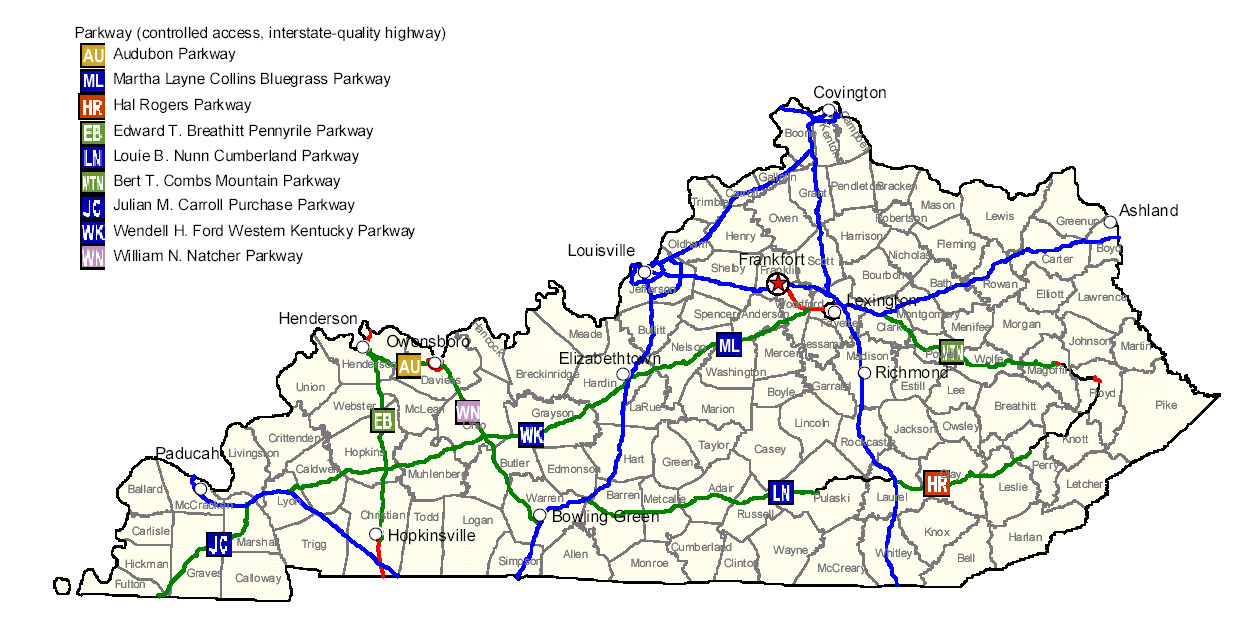 Map of Kentucky Map Highways Worldofmapsnet online Maps and