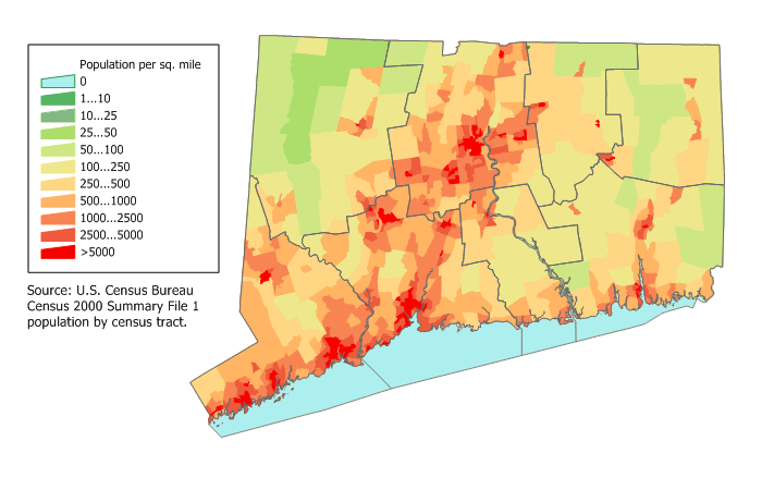 In Connecticut Map on