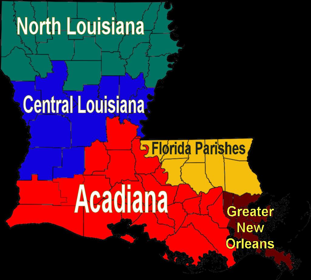 Map of Louisiana (Map Regions) : Worldofmaps.net - online ...