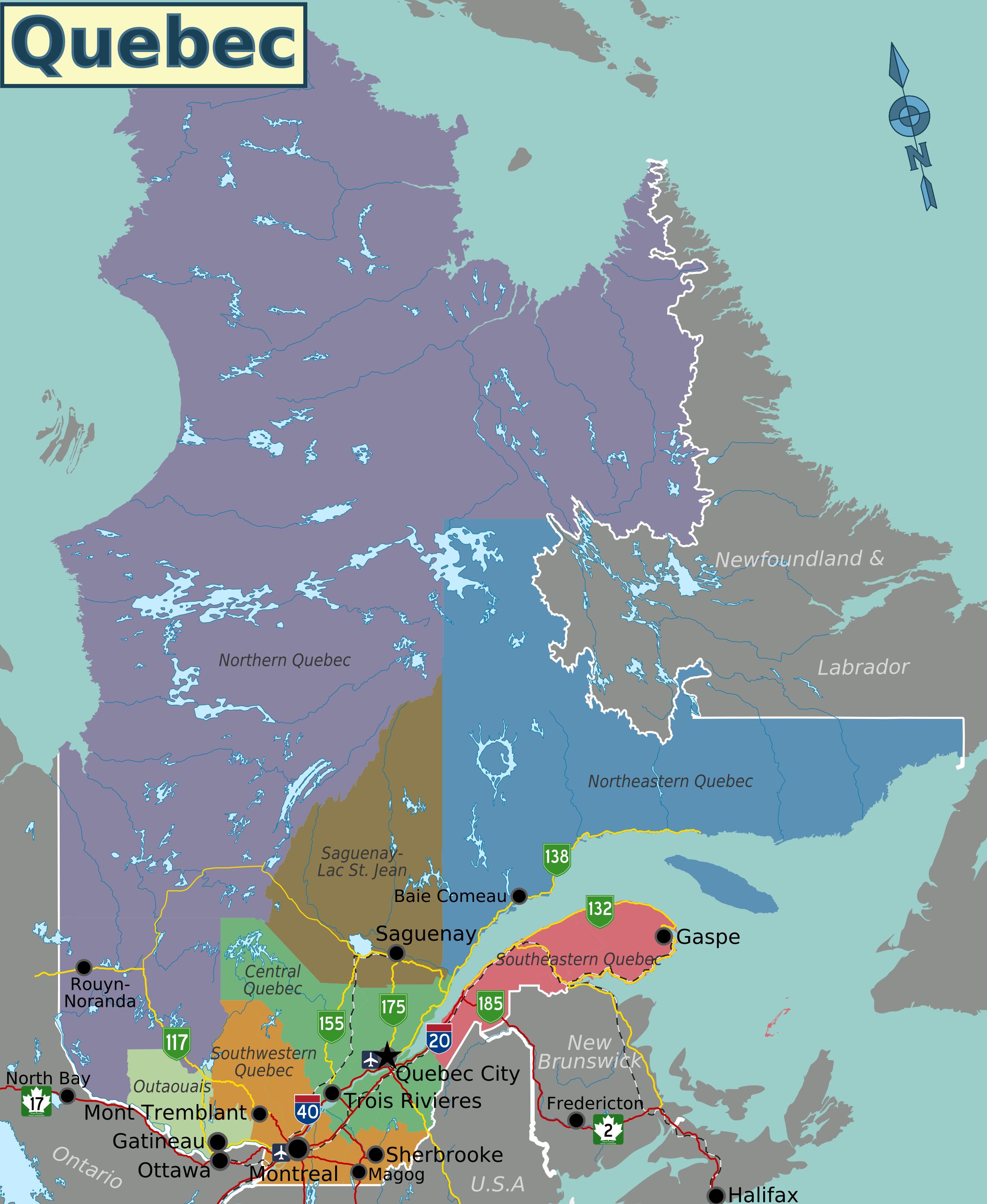 Quebec Map on