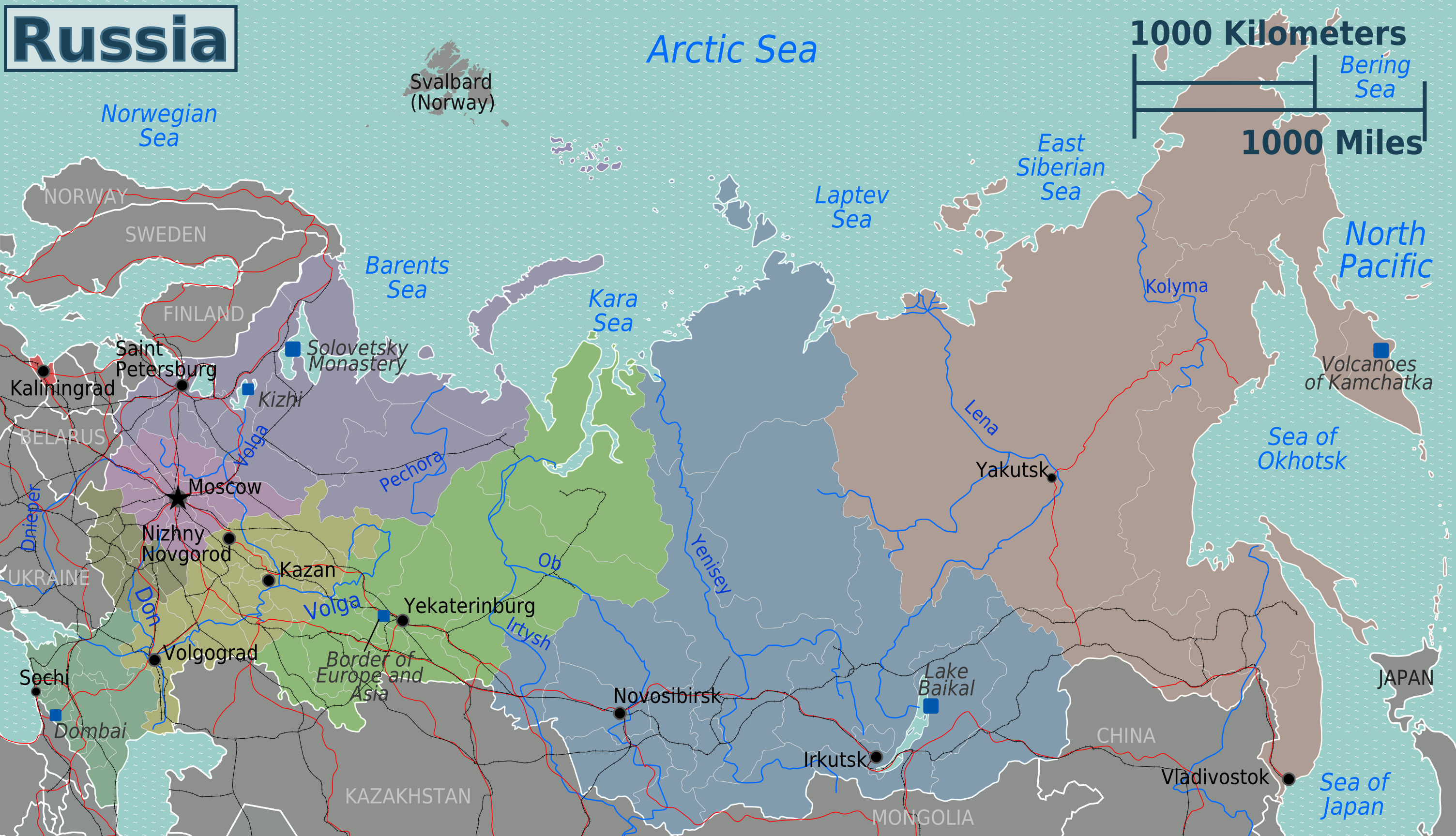 Map Of Russia Overview Map Russia Worldofmaps Net