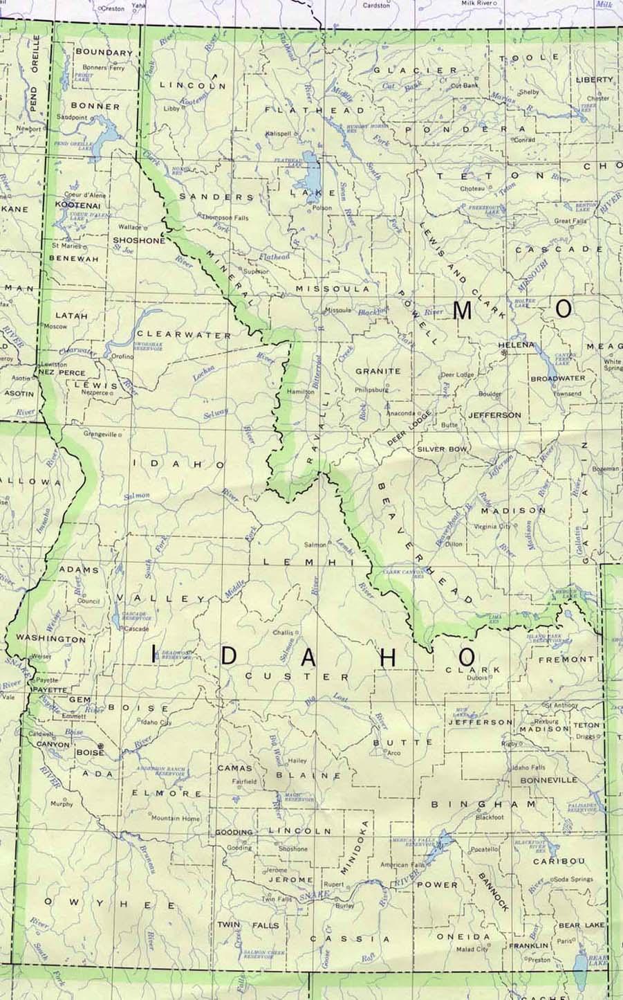 Map of Idaho (Political Map) : Worldofmaps.net - online Maps ...