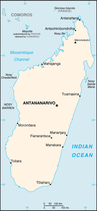 Madagaskar Karte.Map Of Madagascar Small Overview Map Worldofmaps Net