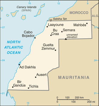 Sahara Karte.Map Of Western Sahara Small Overview Map Worldofmaps Net