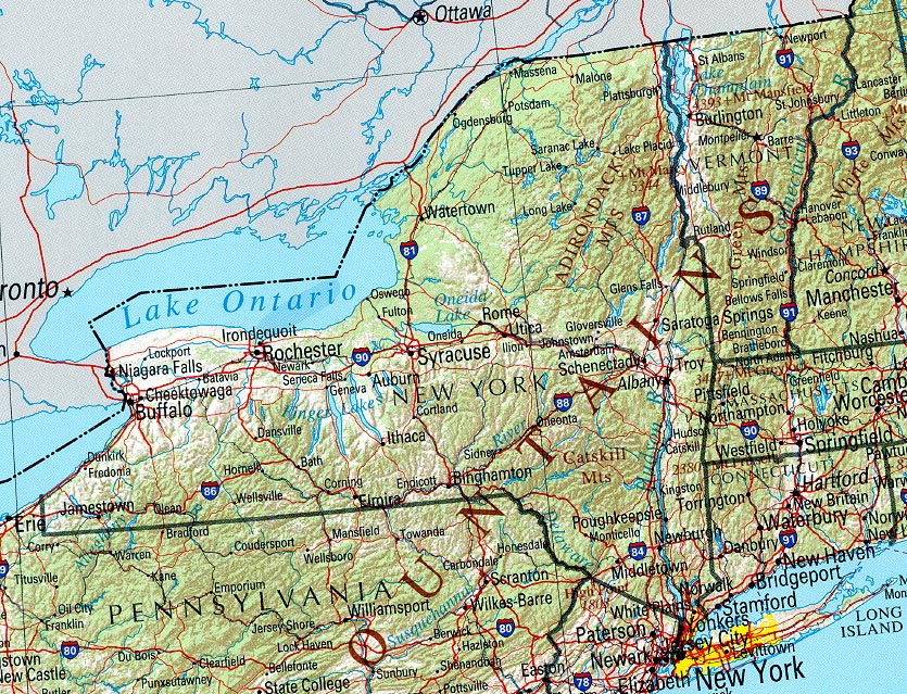 Map of New York (Overview Map) : Worldofmaps.net - online ...