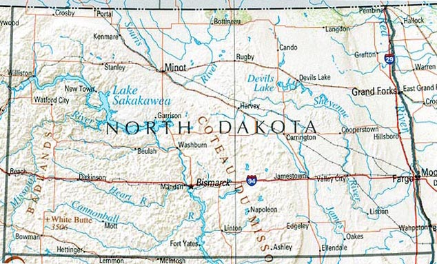 Map of North Dakota (Overview Map) : Worldofmaps.net ...