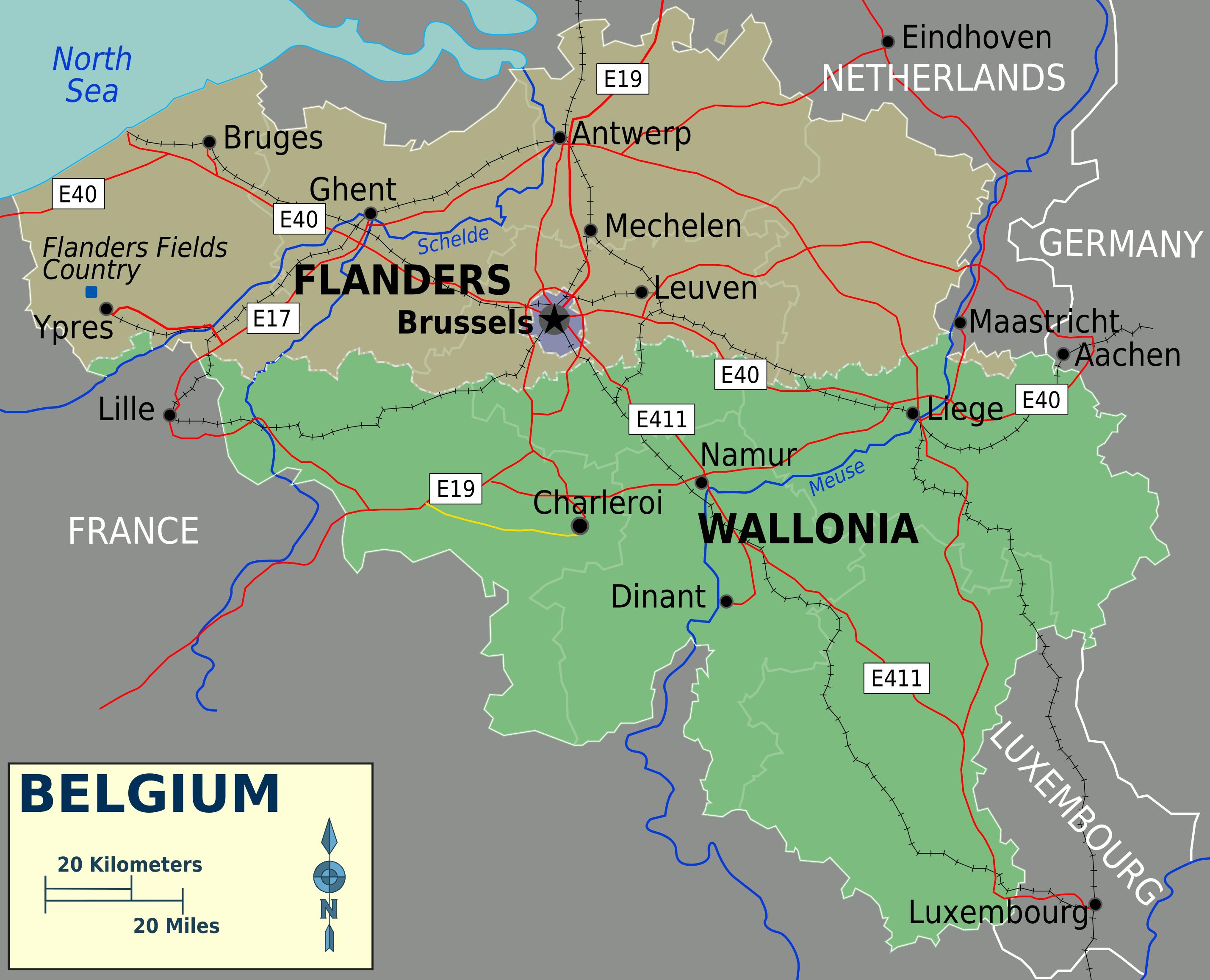 Map of Belgium (Overview Map) : Worldofmaps.net - online ...