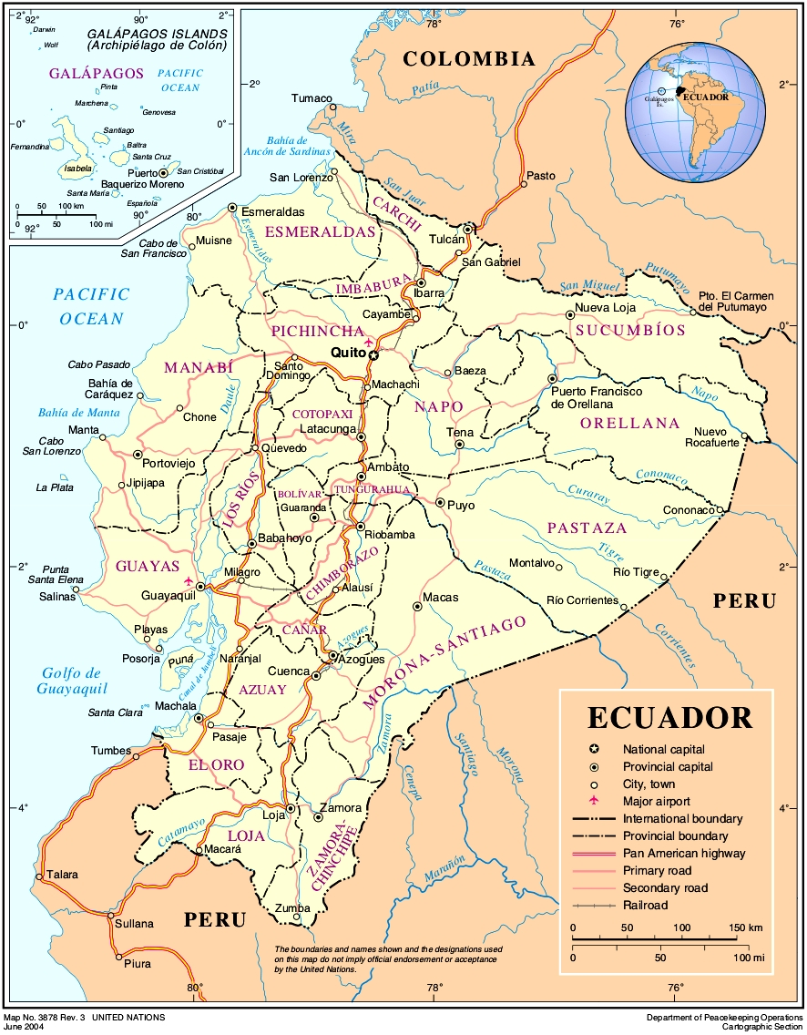 Map of Ecuador (Overview Map) : Worldofmaps.net - online Maps and ...