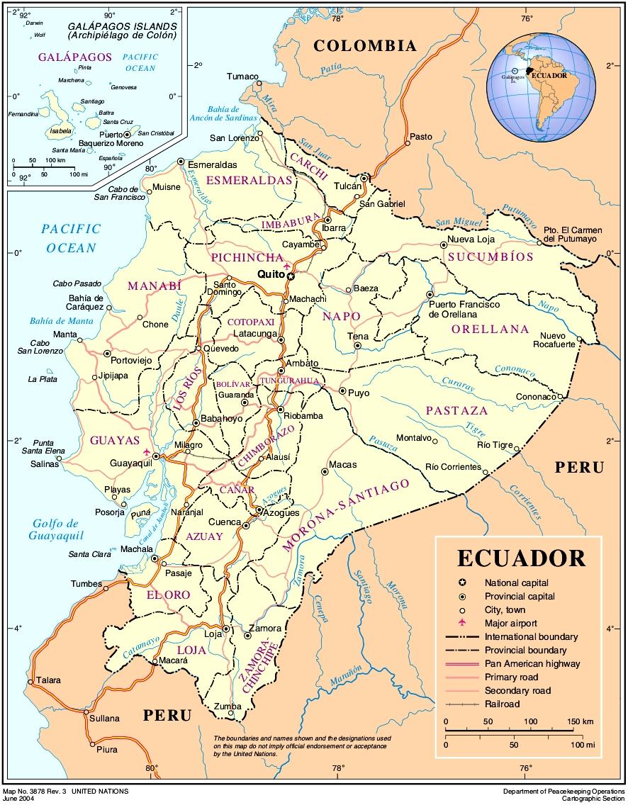 Map of Ecuador (Overview Map) : Weltkarte.com - Karten und ...