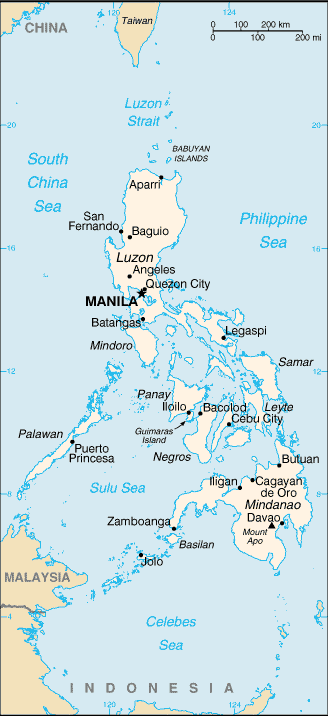 Maps of the Philippines (Small Overview Map) : Worldofmaps.net ...