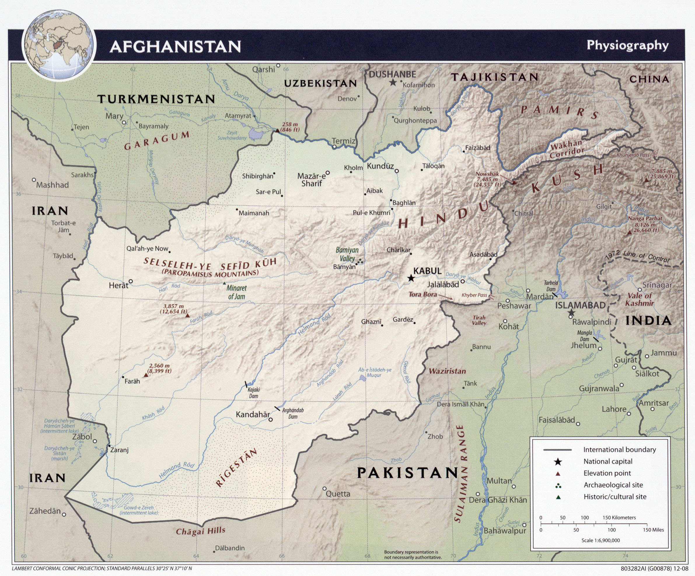 Map of Afghanistan (Physical Map) : Worldofmaps.net - online ...