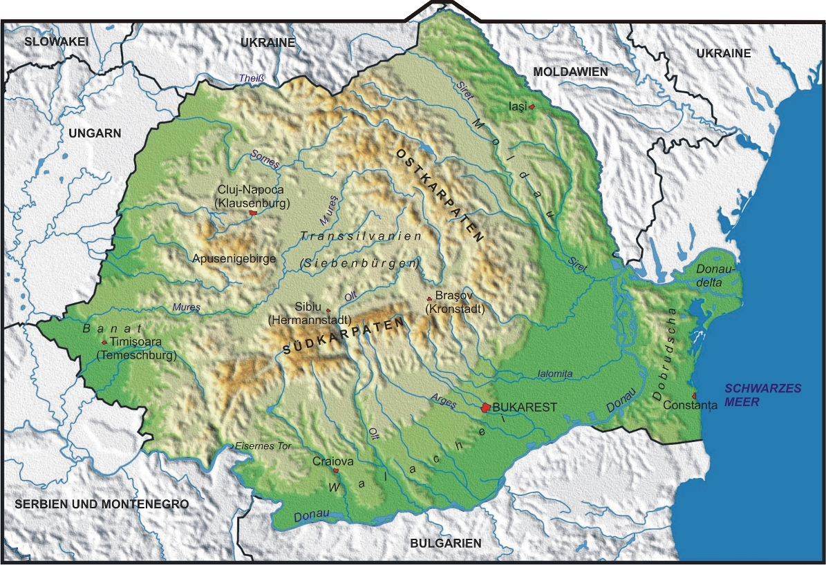 topographische karte bulgarien Map of Romania (Physical Map) : Worldofmaps.  online Maps and