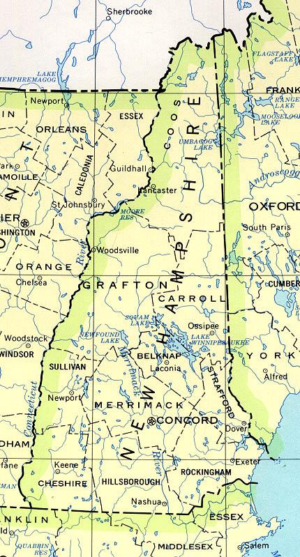Map Of New Hampshire Political Map Worldofmaps Net