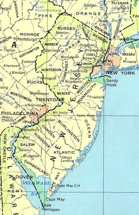 Map of New Jersey (Political Map) : Worldofmaps.net - online ...