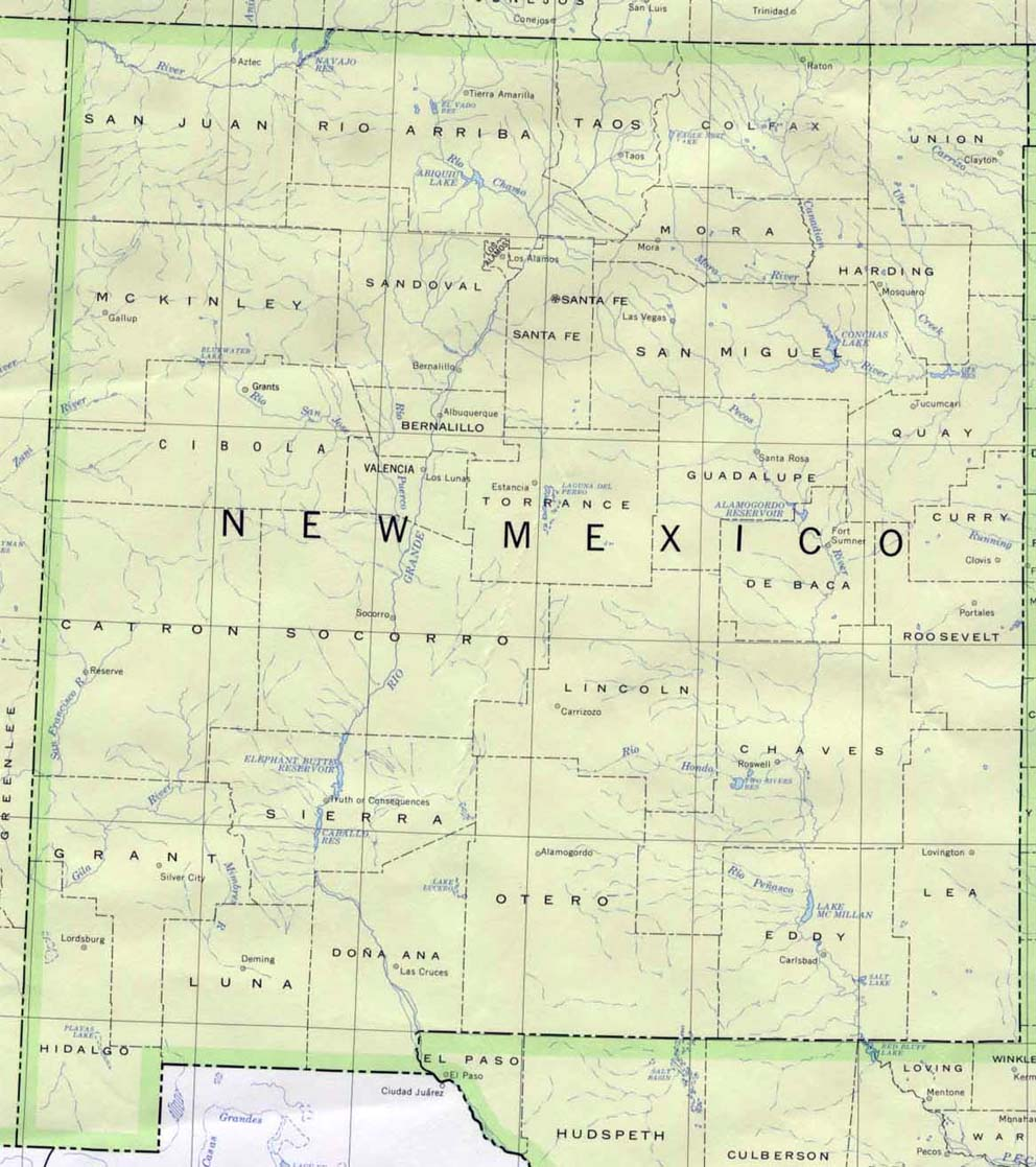 Map of New Mexico (Political Map) : Weltkarte.com - Karten ...