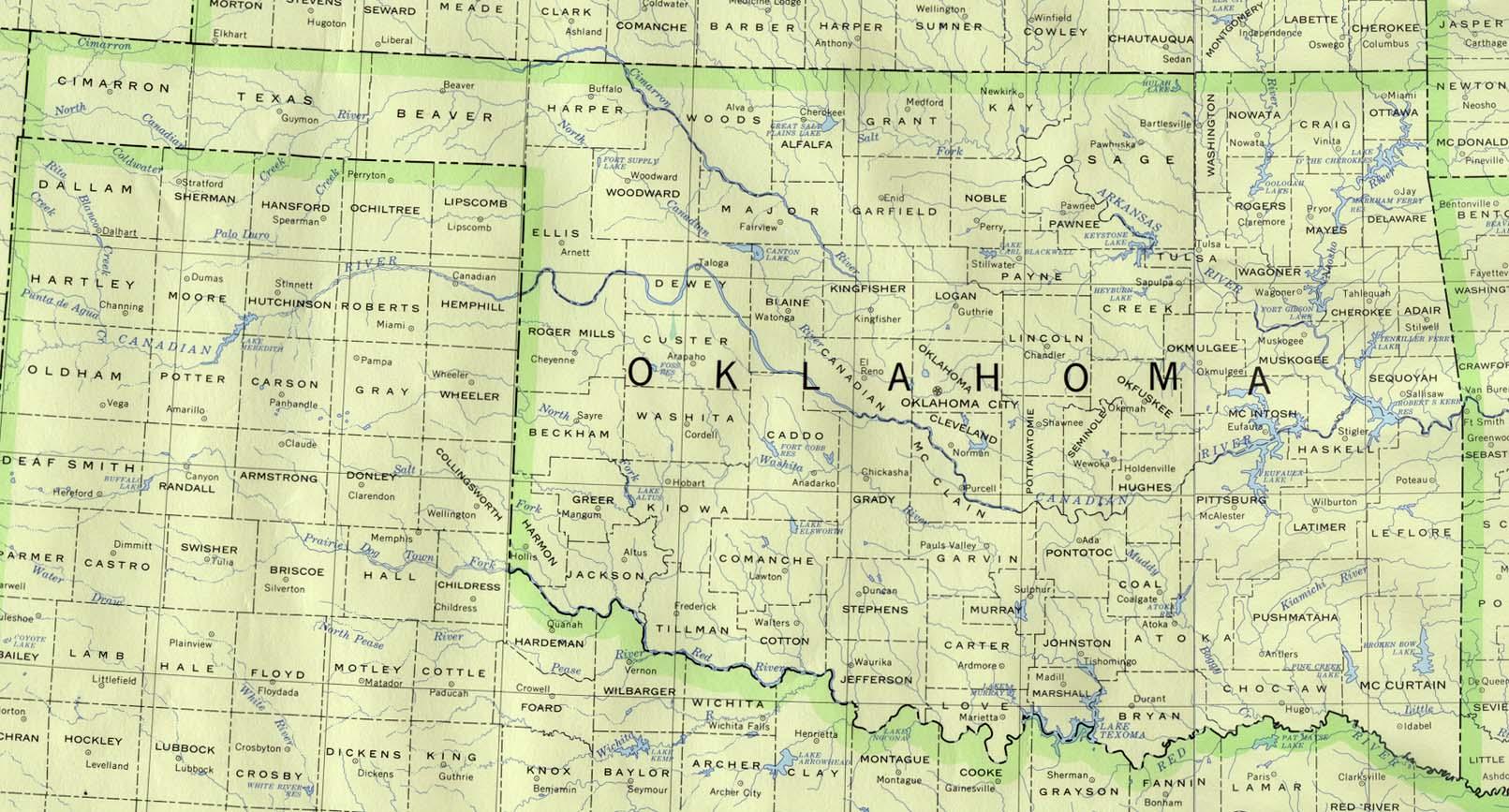 Map of Oklahoma (Political Map) : Worldofmaps.net - online ...