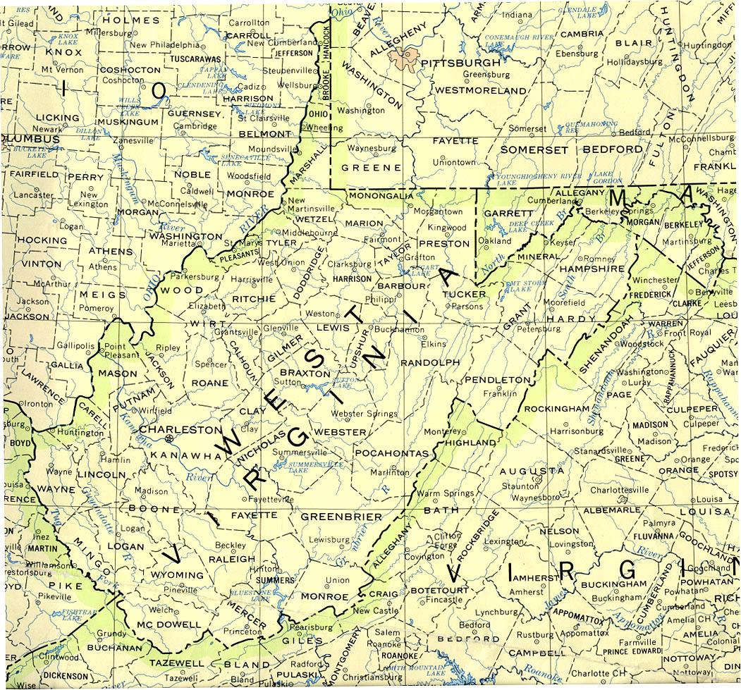Map of West Virginia (Political Map) : Worldofmaps.net - online Maps ...