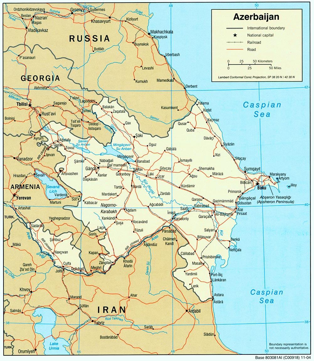 Map Of Azerbaijan Political Map Worldofmaps Net Online Maps