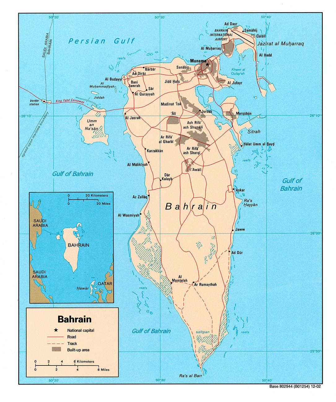 Map of Bahrain (Political Map) : Worldofmaps.net - online Maps and ...
