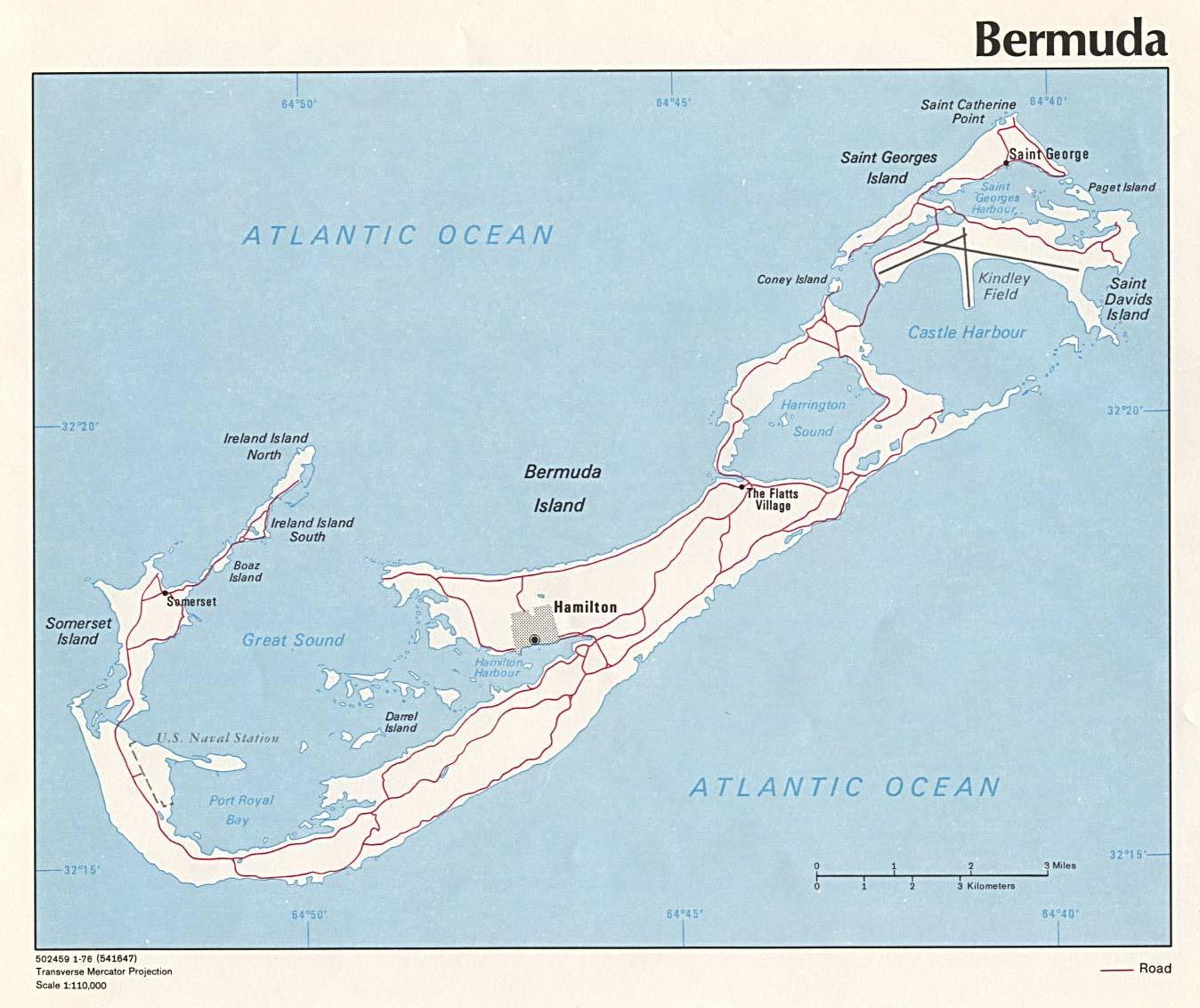 Map of Bermuda Islands (Political Map) : Weltkarte.com ...