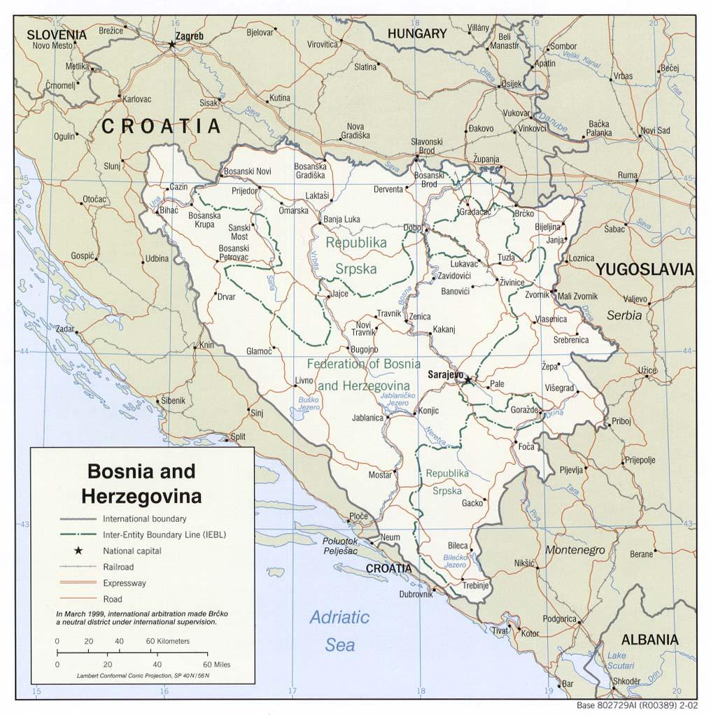 Map of Bosnia and Herzegovina (Political Map) : Worldofmaps ...