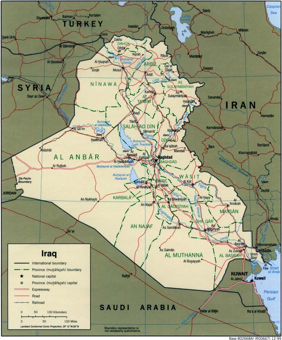 Map of Iraq (Political Map) : Worldofmaps.net - online Maps and ...