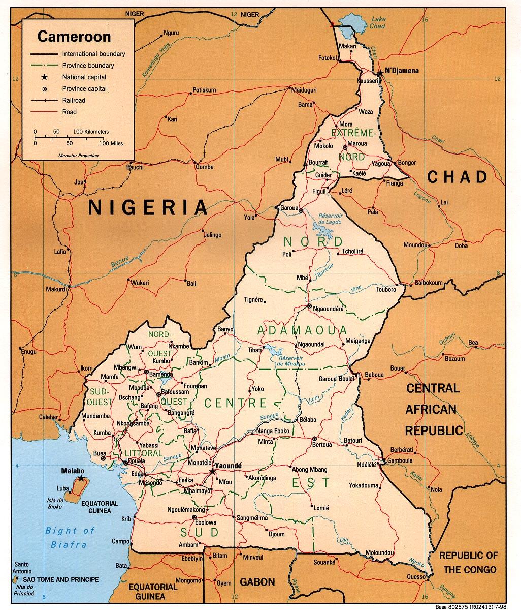 Map of Cameroon (Political Map) : Worldofmaps.net - online ...