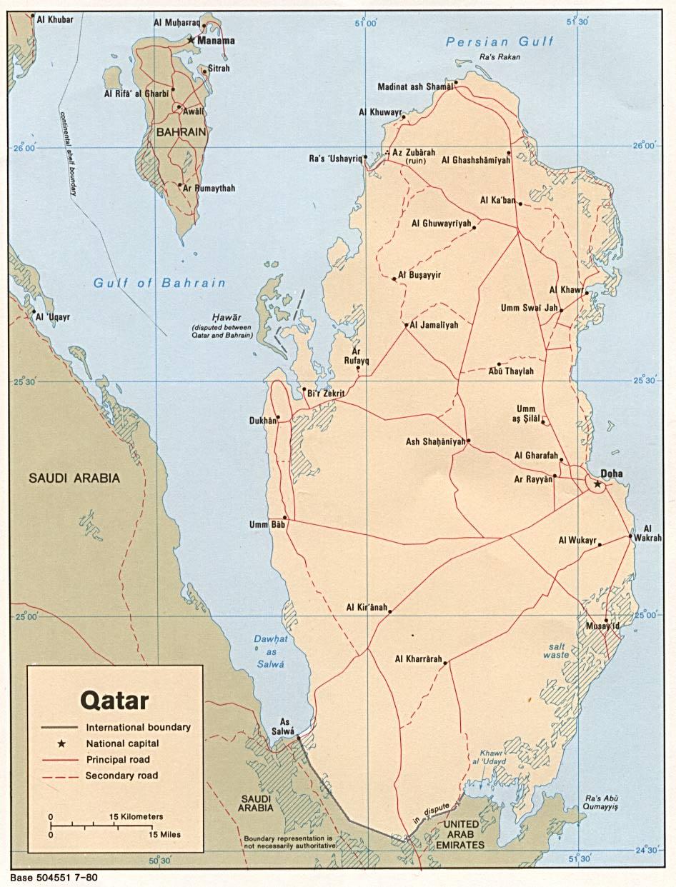 Map Of Qatar Political Map Weltkarte Com Karten Und