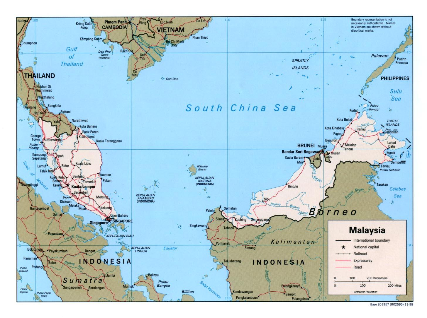 Map of Malaysia (Political Map) : Weltkarte.com - Karten und ...