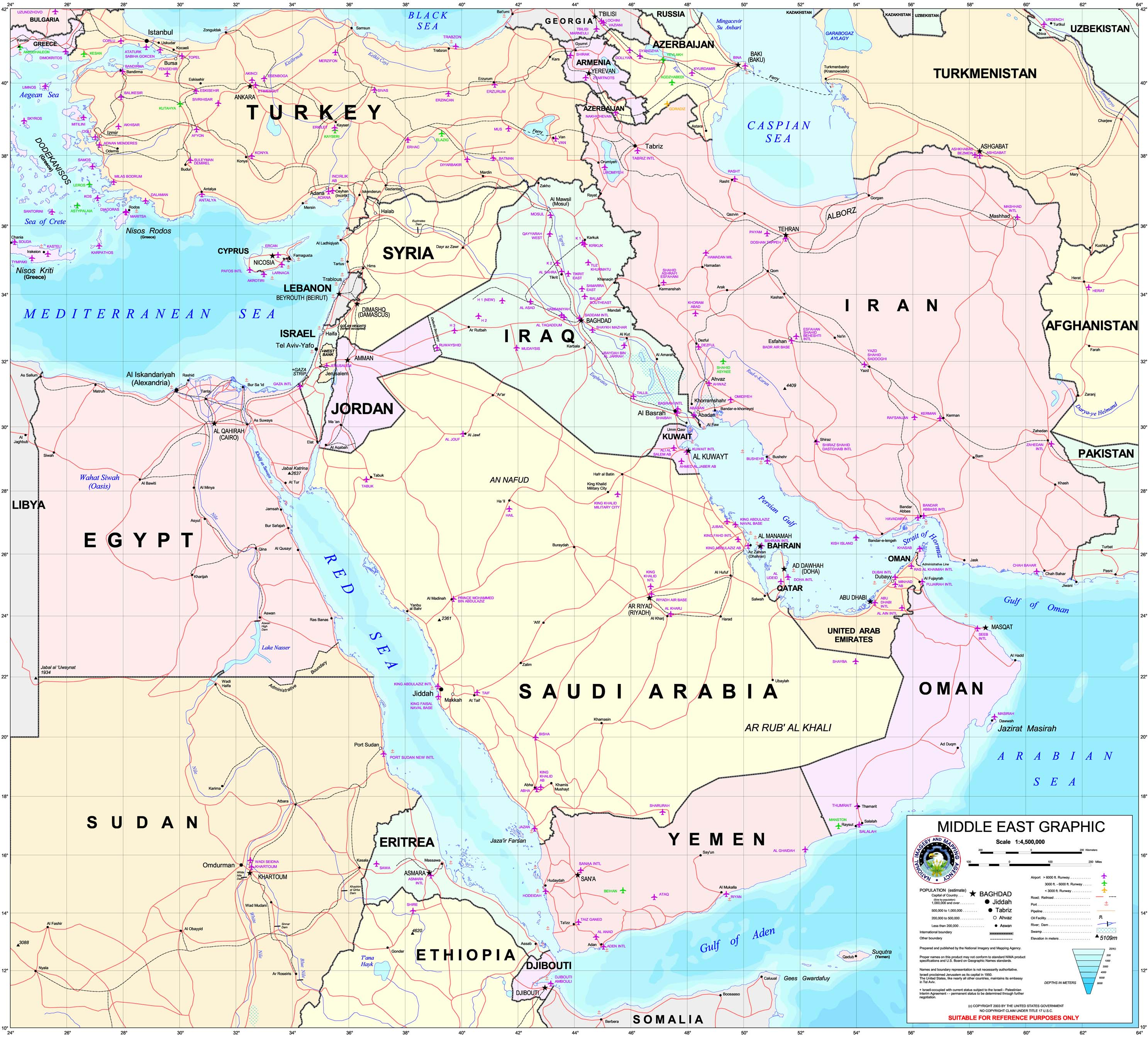 Map of Middle East (Political Map) : Worldofmaps.net ...